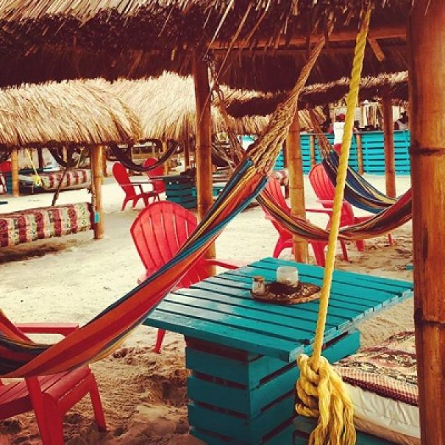 Beach clubs in Cartagena